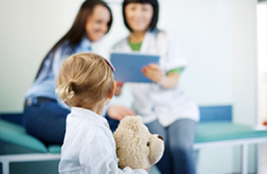 Child with A Caregiver